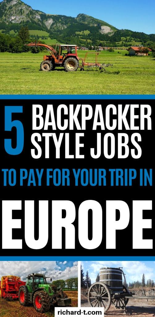 Backpack jobs europe