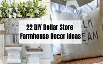22 DIY Dollar Store Farmhouse Decor Ideas