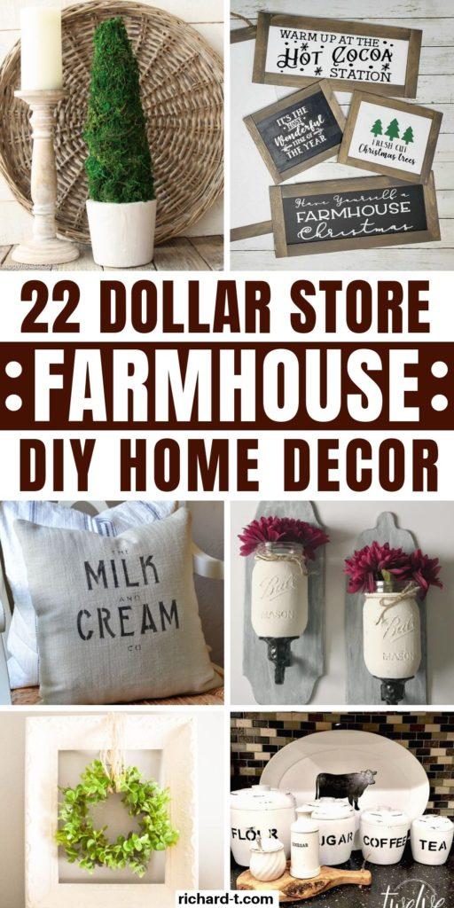 22 Dollar Store Farmhouse Decor