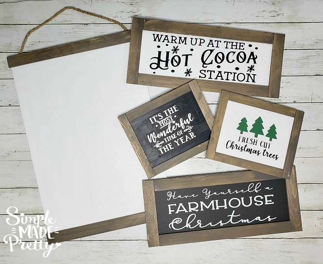 Dollar Store Farmhouse Signs
