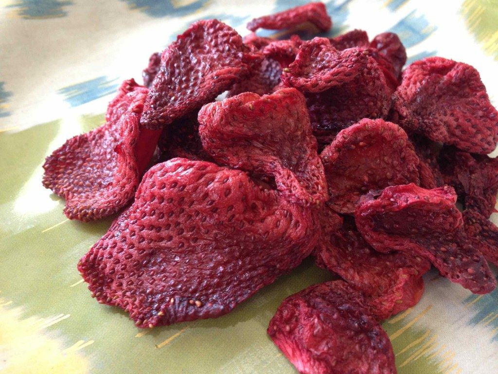 Dried strawberries healthy snack