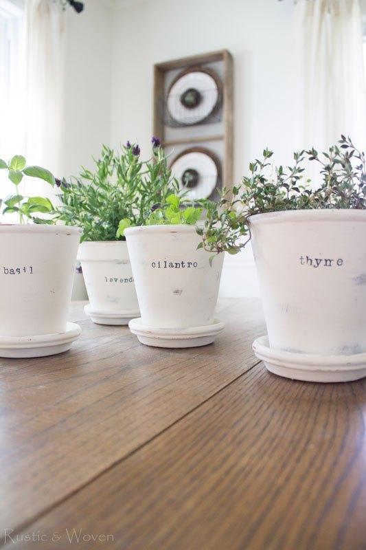 Herb garden DIY idea