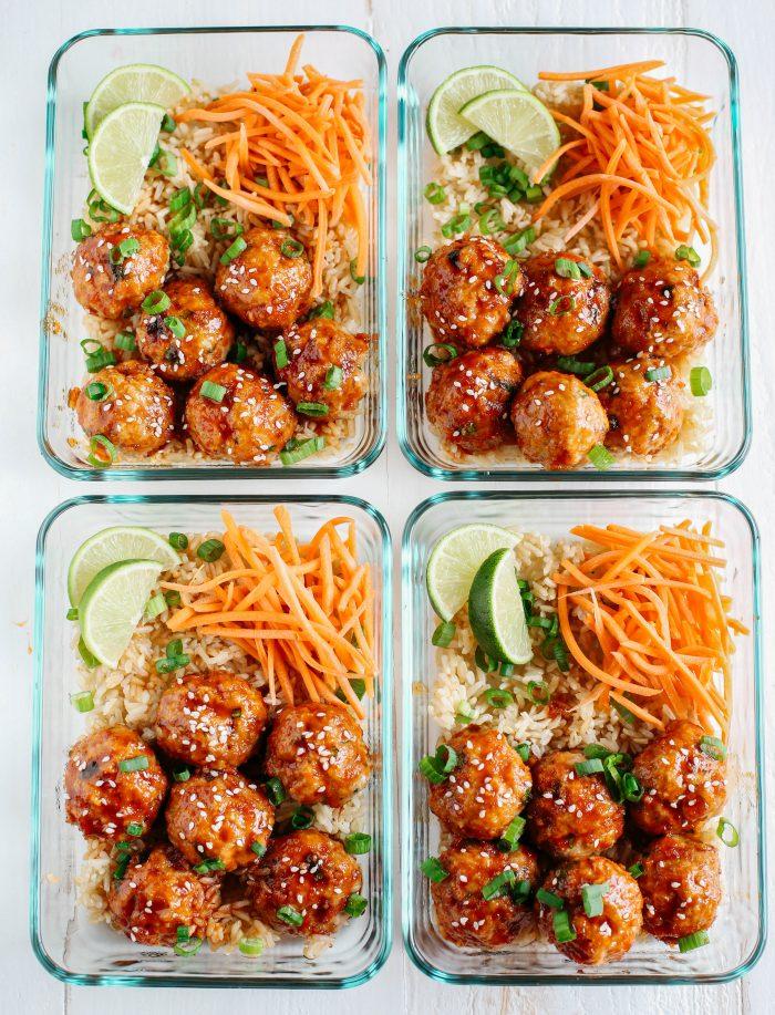 Honey meatballs meal prep recipe