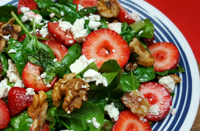 Strawberry Veg Salad recipe