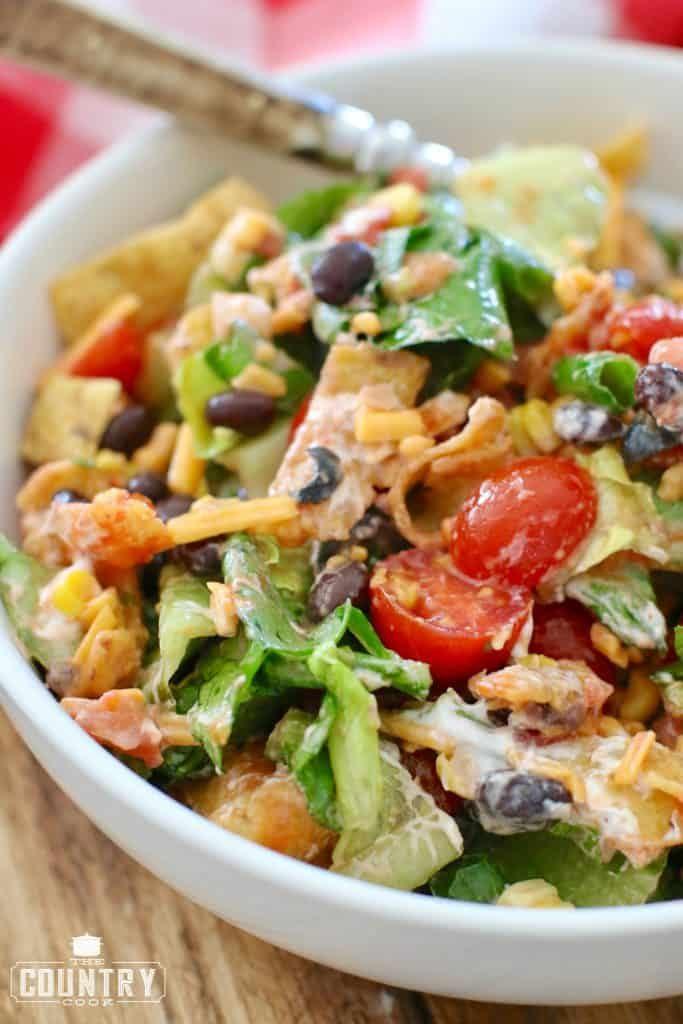 Veggie taco salad recipe