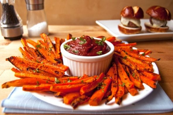 healthy snack carrot fries
