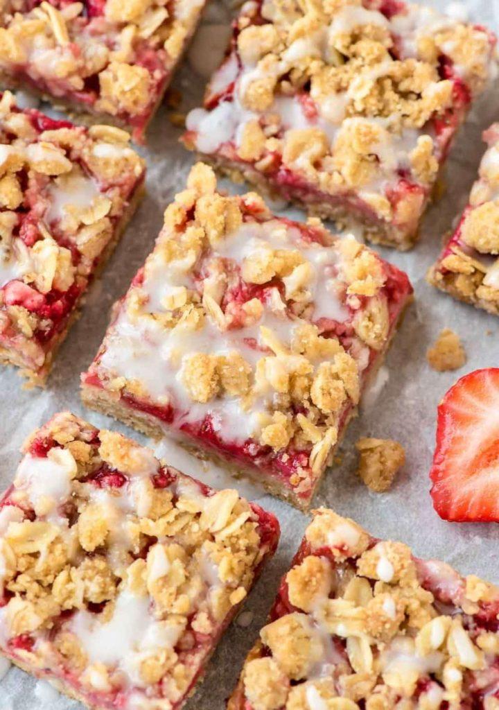 healthy snack recipe strawberry oat bar