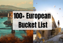 100+ European Bucket List