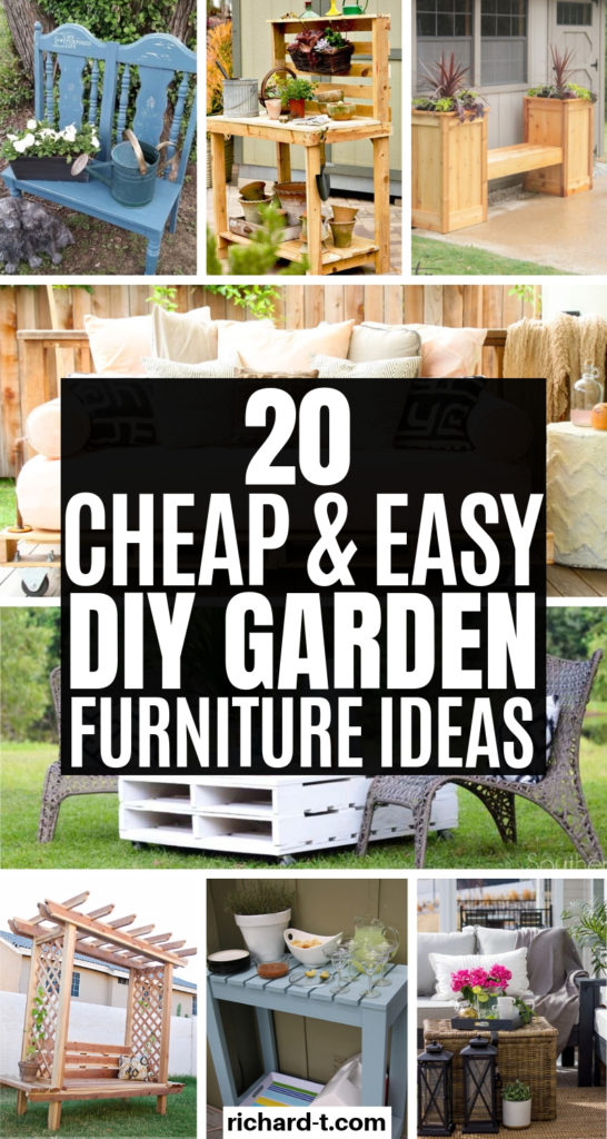 20 DIY Garden Furniture Ideas