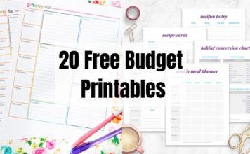 20 Free Budget Printables