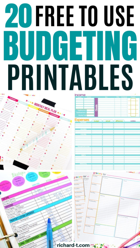 20 Free Budget Printables To Use Today