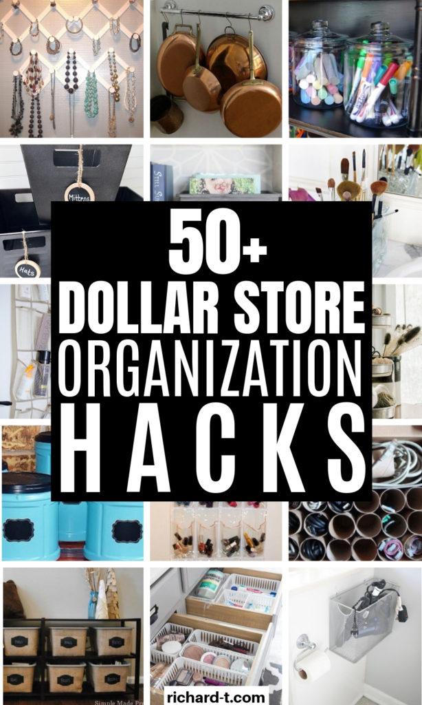 50+ Dollar Store Organization Hacks