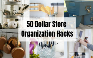 50 Dollar Store Organization Hacks
