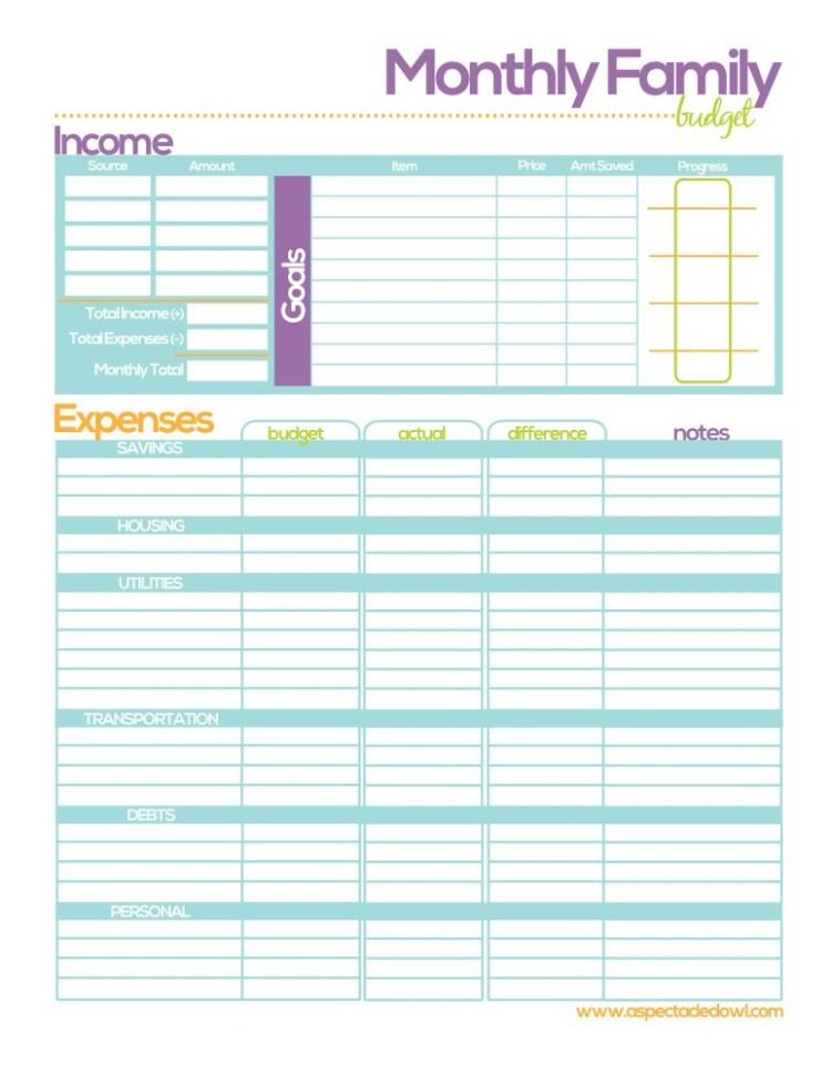 Budget Template Printable 3