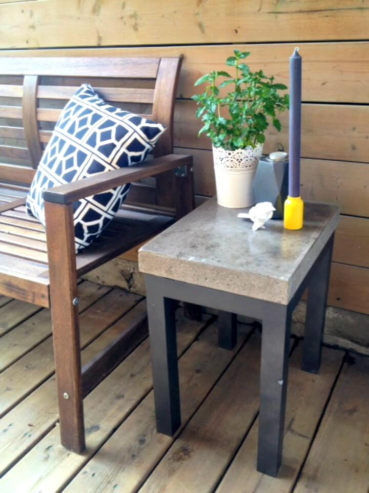 Concrete DIY Garden Furniture