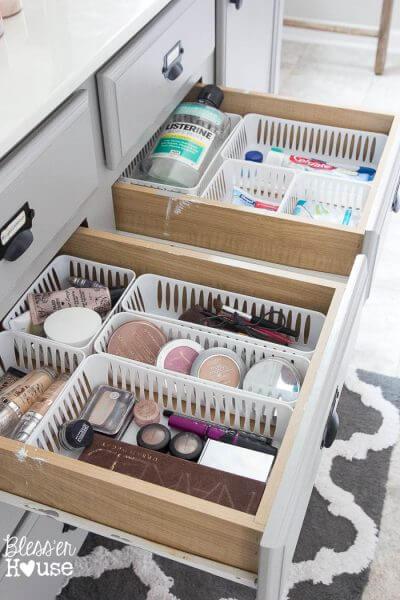 DIY Bathroom Organization 7