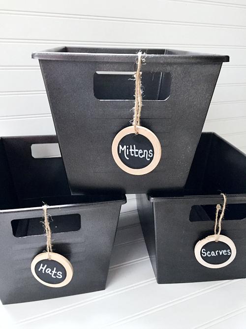 DIY Bucket Storage