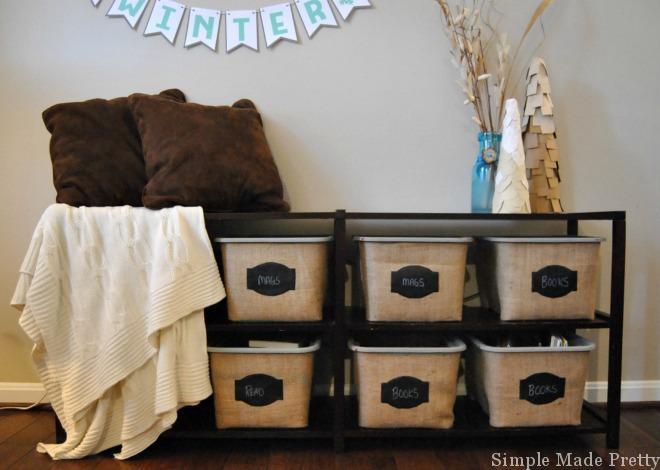 DIY Buckets Storage