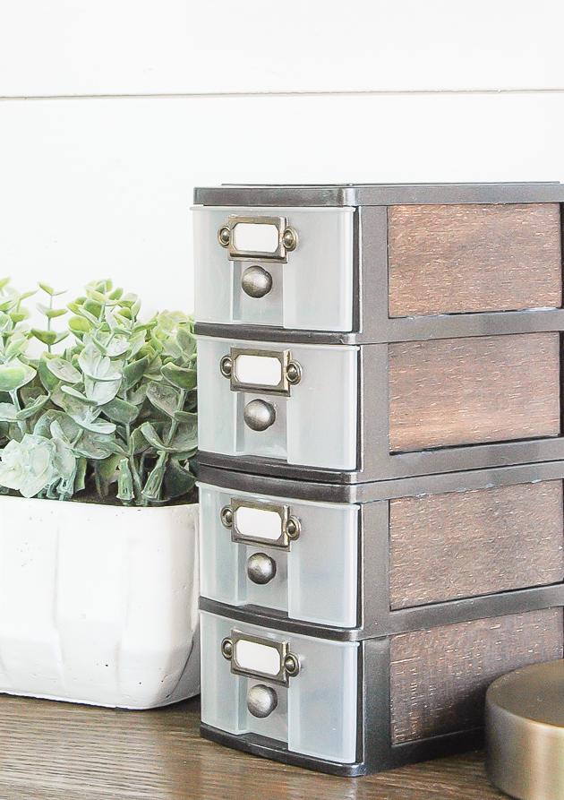 DIY Storage Drawers Famrhouse Look