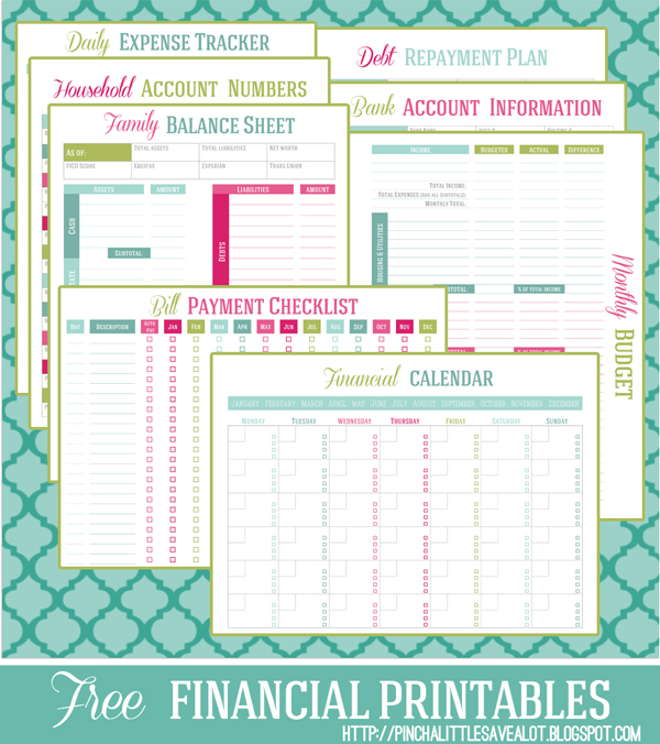 Financial Budget Printables Set