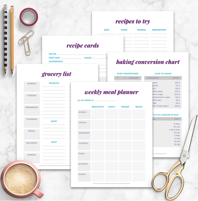 Free Meal Planning Printables 101