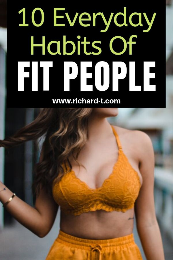 Habits of Fit People