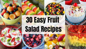 30 Easy & Tasty Fruit Salad Recipes