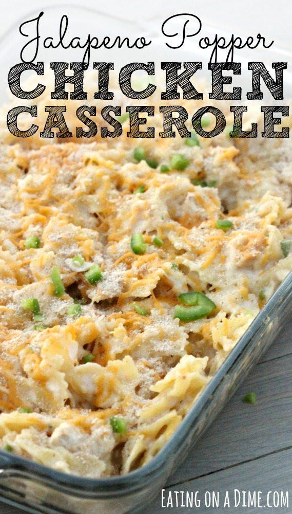 Chicken freezer meal casserole