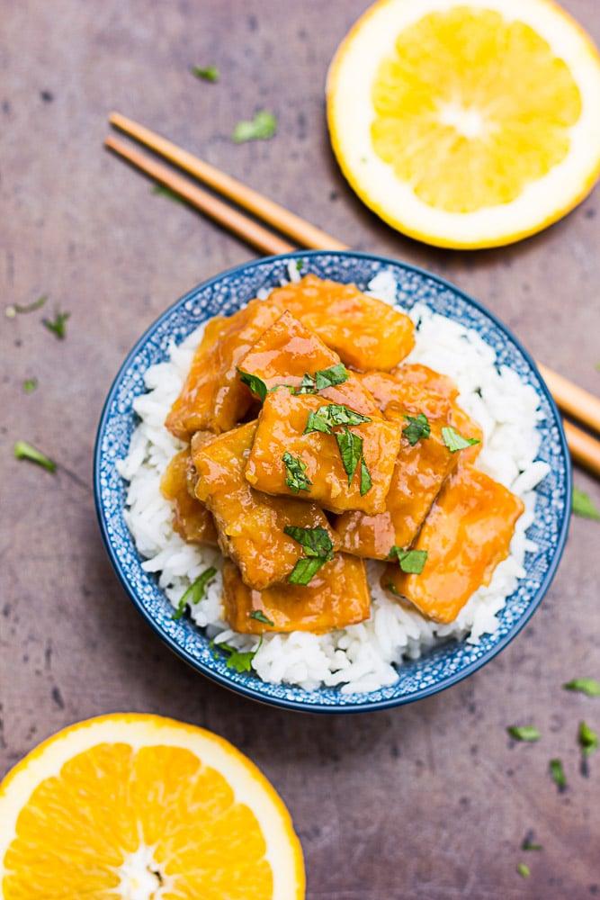 Crispy Baked Orange Tofu