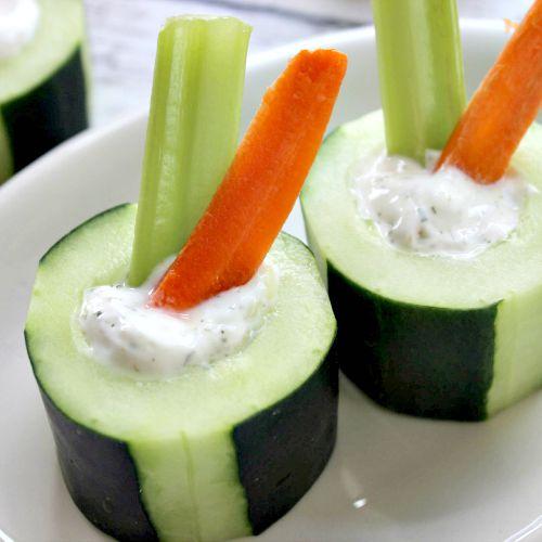 Cucumber snacks