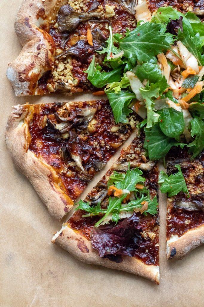 Korean BBQ Pizza with Tofu