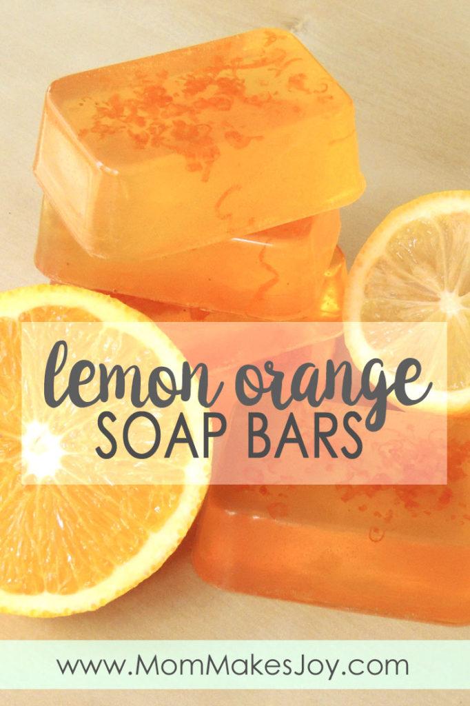 Orange soap bars