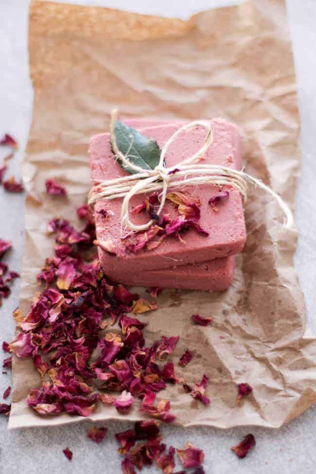 Rosewater homemade soap recipe