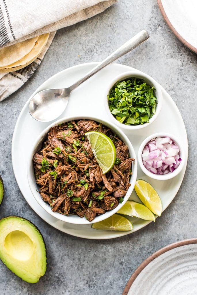 Shredded mexican food