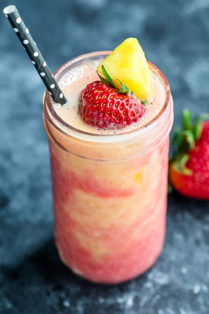 Tropical Pineapple Strawberry Swirl