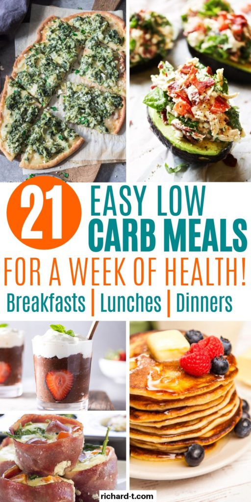 21 Low Carb Recipes For A Week