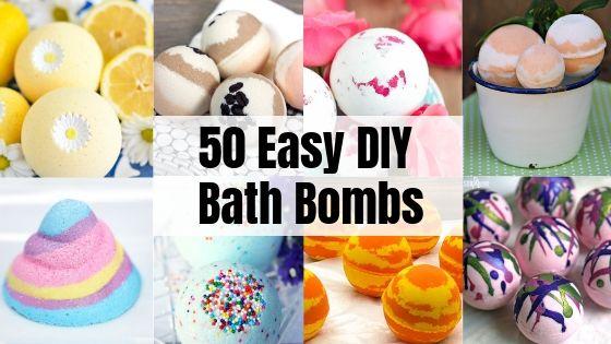 50 Easy DIY Bath Bombs