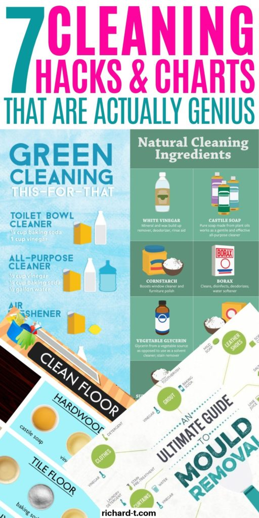 7 Cleaning Hacks Graphs