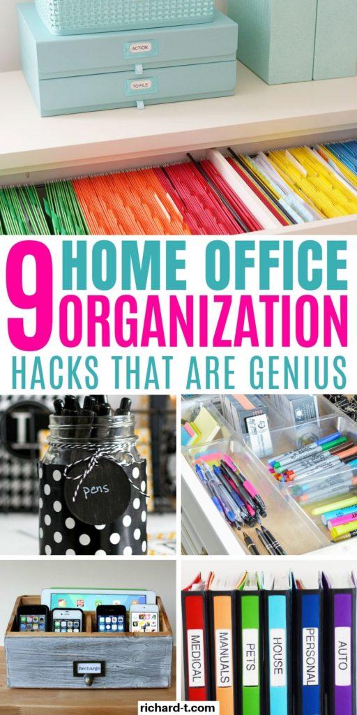 9 Genius Home Office Organization Ideas