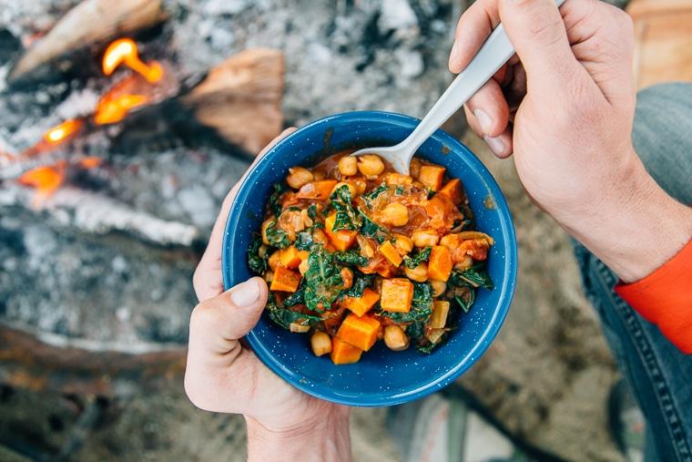 Campfire African Sweet Potato & Peanut Stew