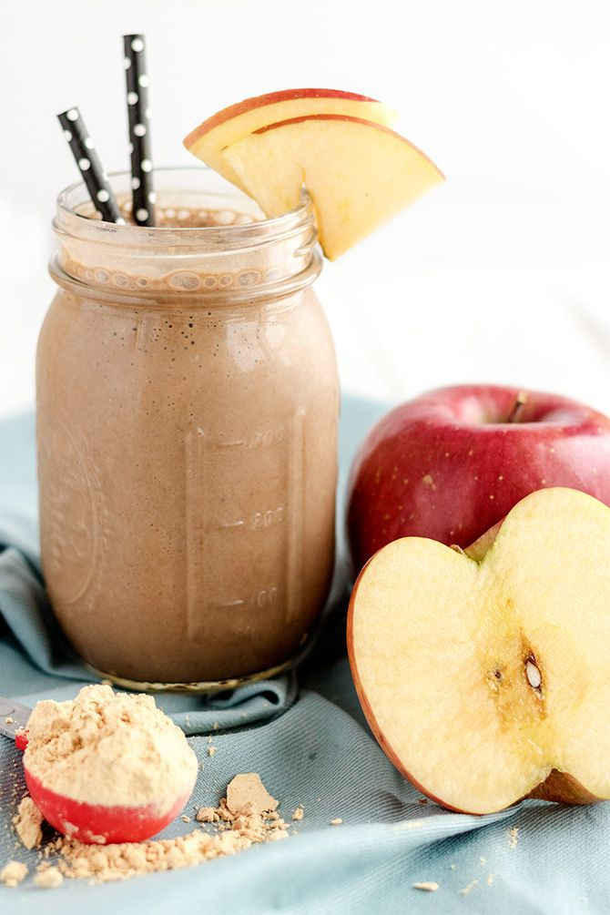 Chocolate Peanut Butter Apple Protein Shake