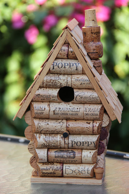 Cork Birdhouse DIY Wine Work Crafts