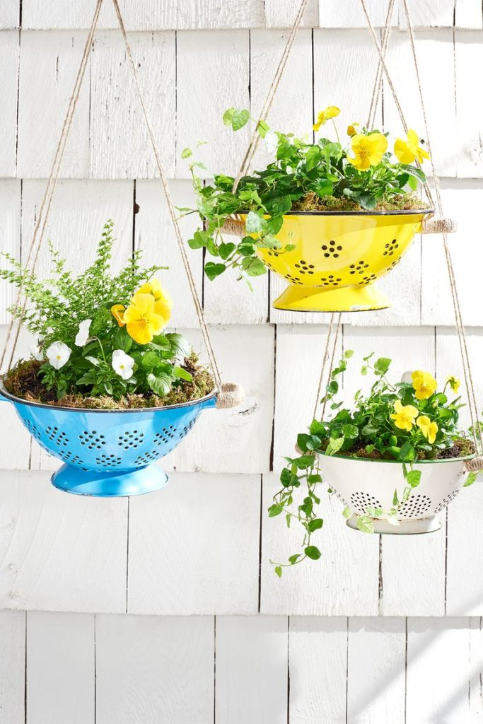 DIY Colander Planter