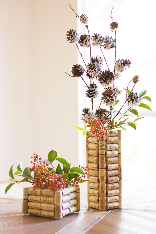 DIY Cork Vases Wine Cork Crafts