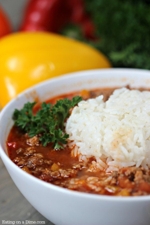 Easy Stuffed Peppers Soup