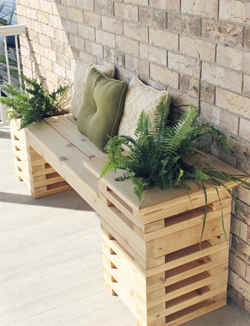 Front Porch DIY Bench