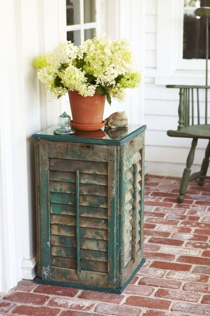 Front Porch Shutter Side Table