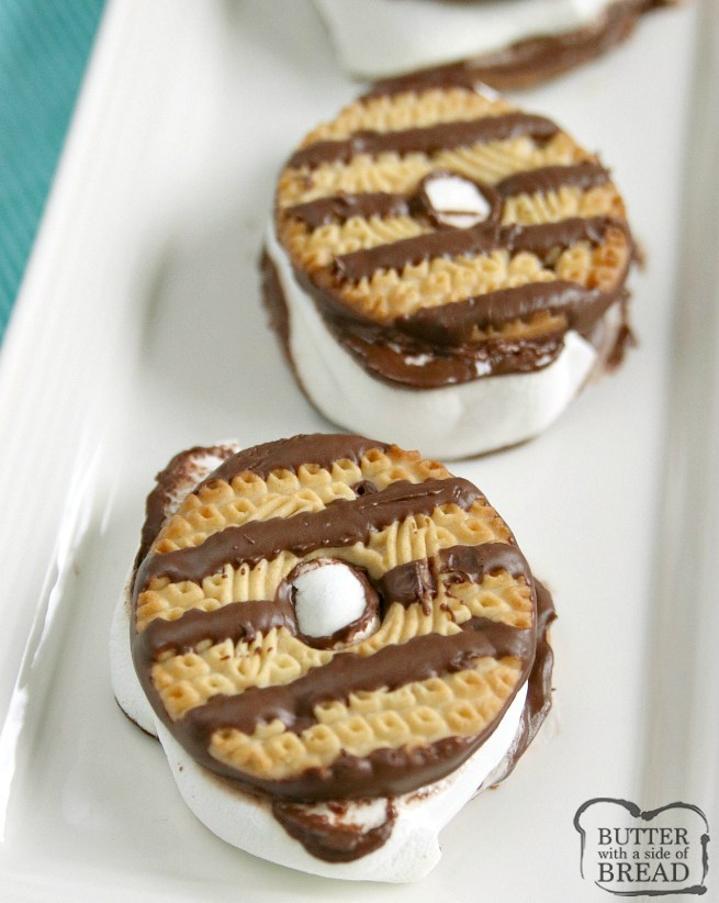 Fudge Striped Cookie Smores