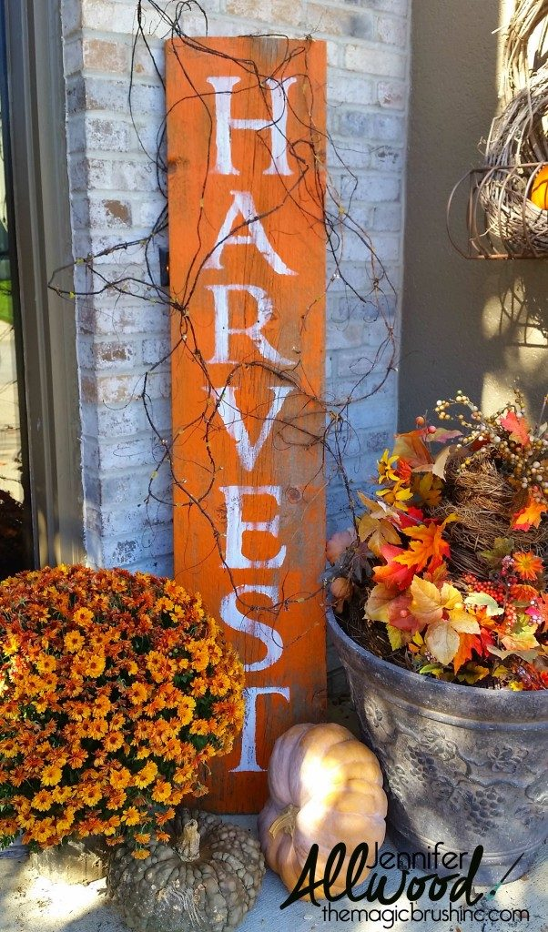 Harvest Barnwood Fall Porch Decorations