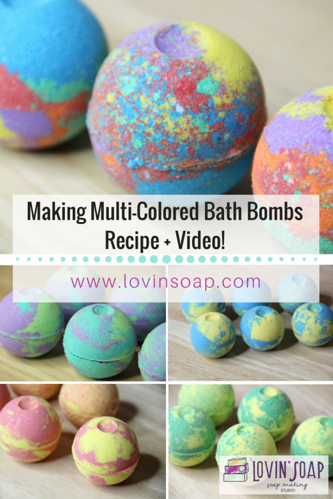 Making Multi-Colored Bath Bombs